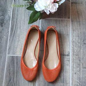 J. CREW Orange Flats